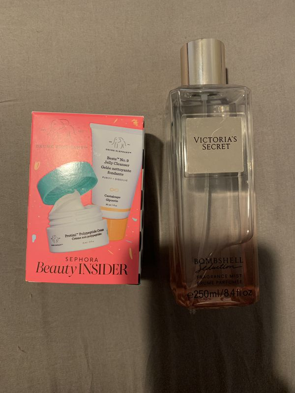 Vs Perfume & drunk elephant mini face cleanser and creme