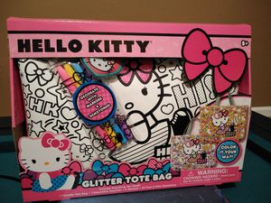 Hello Kitty doodle glitter tote bag for Sale in Philadelphia, PA