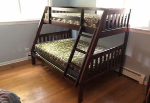 Bunk Bed Twin over Full with FREE MATTRESSES!!Brand New FREE DELIVERY for Sale in Chicago, IL