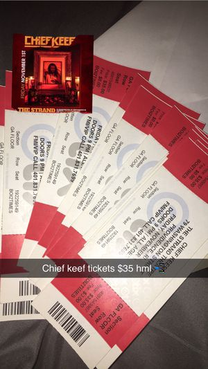 Chief Keef tickets for Sale in Providence, RI
