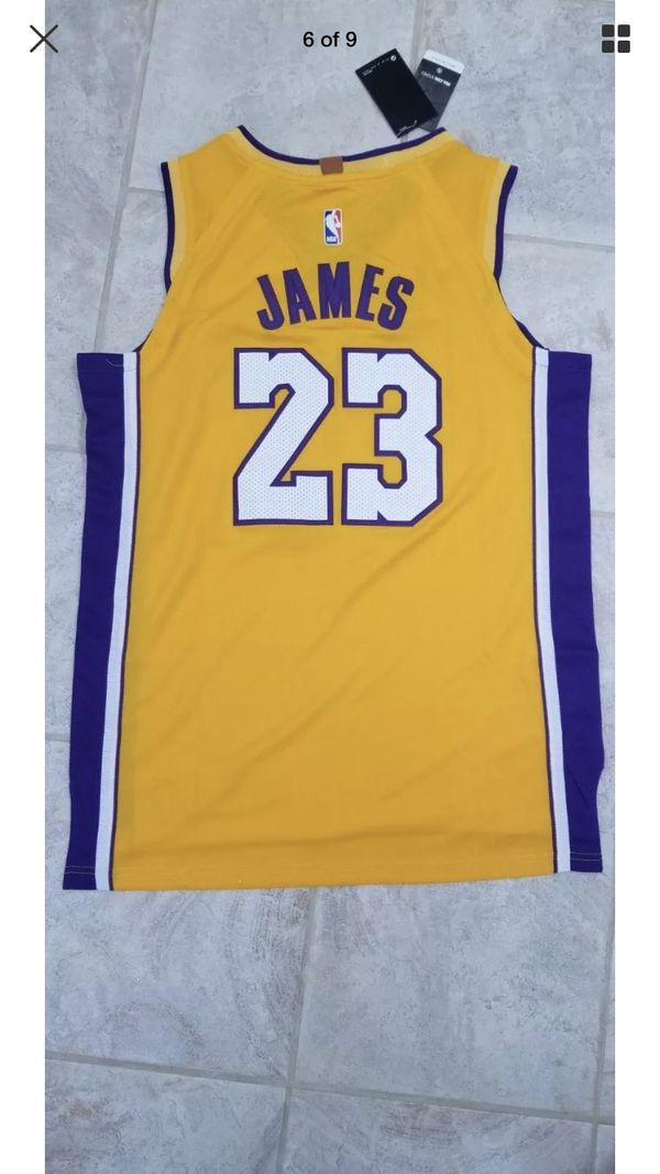 909fed8e4d600 Men's LA Lakers Nike Gold Authentic LeBron James Jersey for Sale in ...