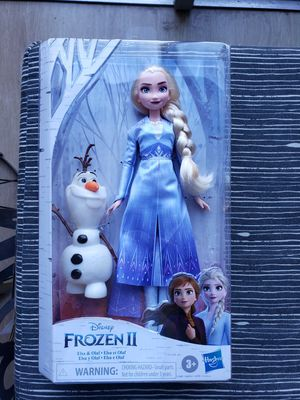 Frozen 2 Elsa and Olaf Doll for Sale in North Miami, FL