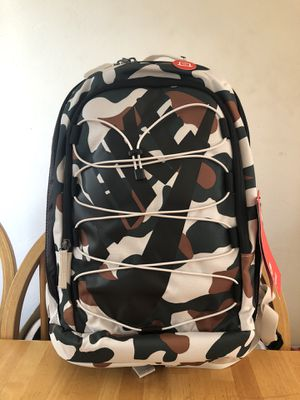 Brand new Nike camo backpack laptop gym bag book school military for Sale in El Cajon, CA