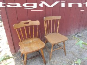 Vintage wooden chairs . made with wooden pegs. for Sale in Fresno, CA