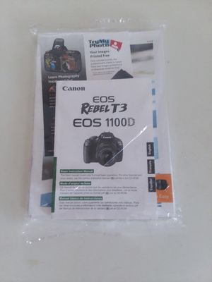 Canon REBEL T3 EOS 1100D Digital Camera User Instruction Guide Manual for Sale in Hyattsville, MD