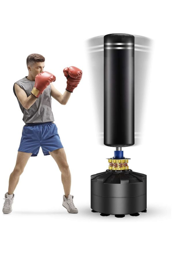 Freestanding Punching Bag, 69'' Heavy Bag with Suction Cup Base 182 lb Stand Kickboxing Bags for Adult Youth - Heavy Punching Bag with Stand Kick Pun