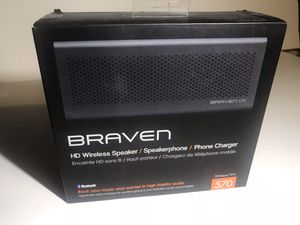 Braven HD Wireless Speaker Bluetooth and Portable Phone Charger for Sale in Durham, NC