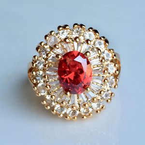 18k gold plated garnet ring women's jewelry for Sale in Silver Spring, MD