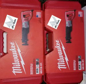 Milwaukee 12 amp reciprocating saw $80 each for Sale in Norwalk, CA