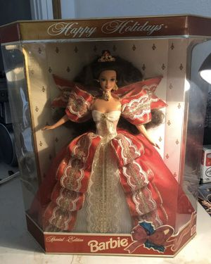 1997 Happy Holidays Barbie Doll NRFB Red & White Gown Dress Mattel #17832 for Sale in Lowellville, OH