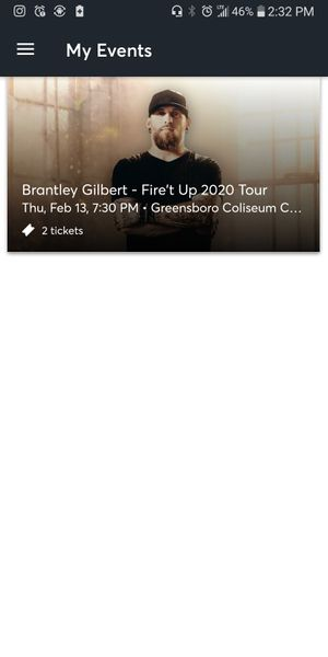 Brantley Gilbert Greensboro tickets pit seats for Sale in Kernersville, NC