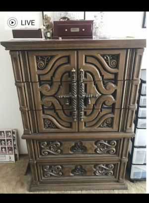 Beautiful antique armoire for clothes or daily use . It has 5 drawers all in good shape. Solid wood and stores a lot of stuff. Pick up only. Serious for Sale in Sunnyvale, CA