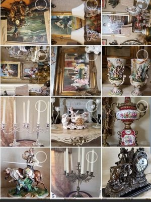Antique furniture, paintings,bronze, vases/urns chandelier and others for Sale in Miami, FL