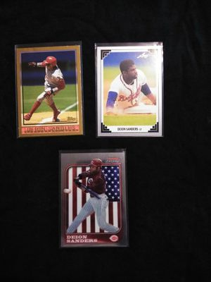 Dion Sanders Baseball Card Collection. for Sale in Hazard, CA