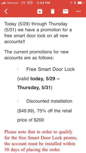 Free smart lock door pad for Sale in Highland Park, MI