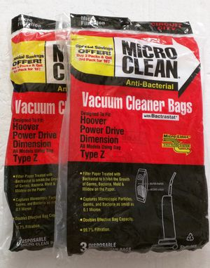 Vacuum Cleaner Bags fits Hoover Type Z for Sale in Vallejo, CA