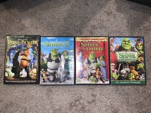Shrek Movie Lot + Puss in Boots for Sale in Buckley, WA