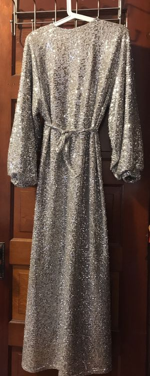 silver sequined cocktail dress for Sale in Medford, MA