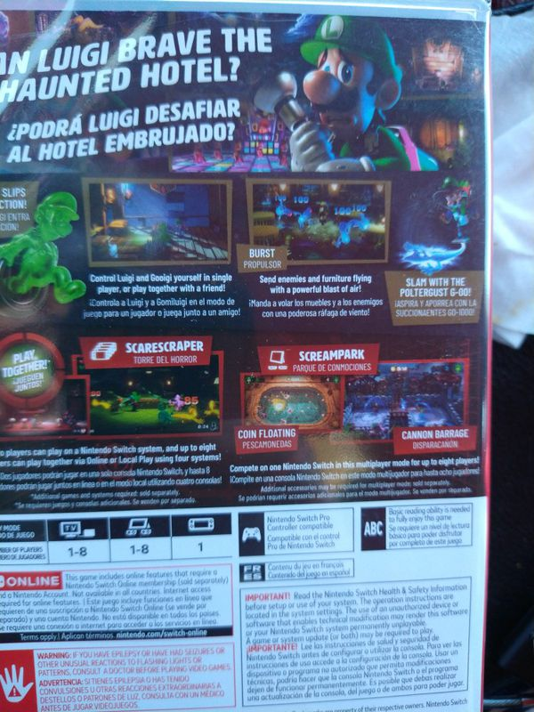 "Factory Wrapped NEW ""LUIGIS MANSION 3"""