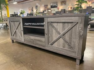 NEW IN THE BOX. STYLISH TV STAND, GREY.SKU#182290. for Sale in Garden Grove, CA