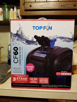 Top Fin CF60 CANISTER AQUARIUM FILTER for Sale in Monrovia, MD