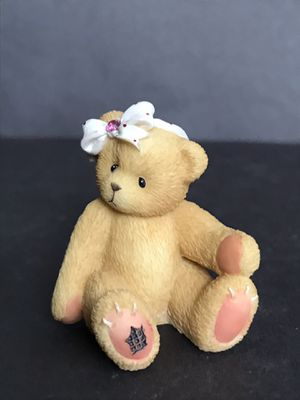 Enesco Cherished Teddies 1996 Little Sparkles Birthstone Bears With Genuine Austrian Crystal - Figurine for Sale in San Antonio, TX