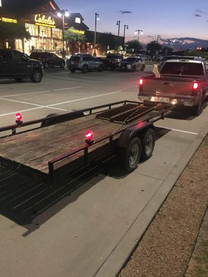 16 ft trailer strong axle for hauling cars for Sale in Arlington, TX