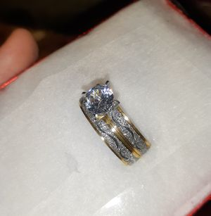 Silver with gold filled rings size 6 NOT REAL GOLD NO ES DE ORO DE VERDA for Sale in Houston, TX