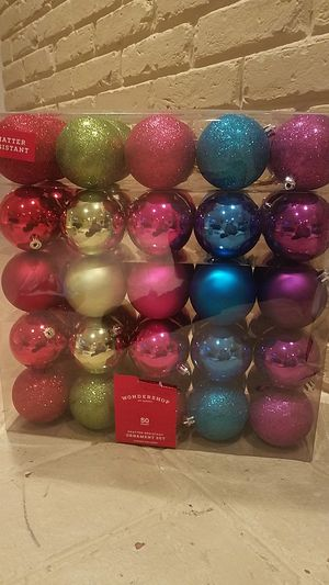 50 COUNT CHRISTMAS ORNAMENTS for Sale in Fairfax, VA