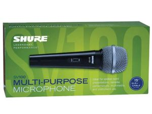 Shure wired Microphone. Brand new in the box. Multipurpose. for Sale in Miami, FL