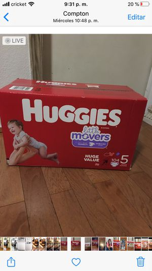 HUGGIES SIZE 5 104 pañales for Sale in Compton, CA