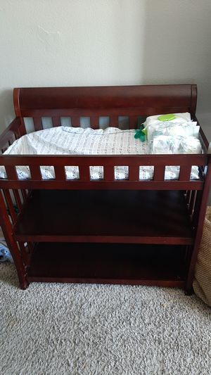 Hard cherrywood changing table for Sale in Phoenix, AZ
