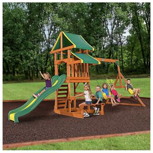 Backyard Discovery Swing Set Tucson Cedar Wooden Outdoor Playground Playset Kids( 🔴2-DAY SHIPPING ) for Sale in Atherton, CA