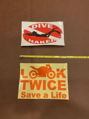 2 Brand new car decal stickers #87865 for Sale in Celina, OH