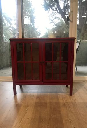 Red accent cabinet for Sale in Los Angeles, CA