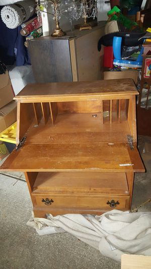 Desk, drawing table, storage, wood, antique, organizer for Sale in San Jose, CA