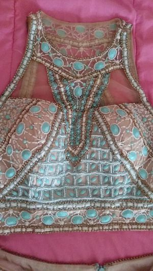 Beautiful baby blue 2 piece dress only wore once for Sale in Toledo, OH