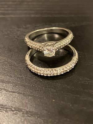 925 sterling silver Engagement/Wedding Ring Set- Code GAND01 for Sale in Brookline, MA