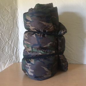 Angled Sleeping Bag: Camouflage Pattern for Sale in Fort Pierce, FL