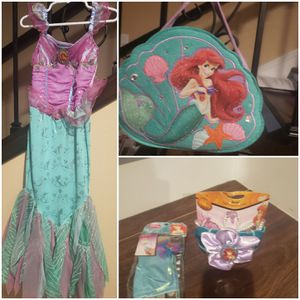 Disney little Mermaid dress and all accessories size 4T for Sale in Westminster, CA