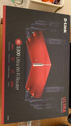 Ac5300 ultra WiFi router 4x4 data streaming tri-band for Sale in Oregon City, OR