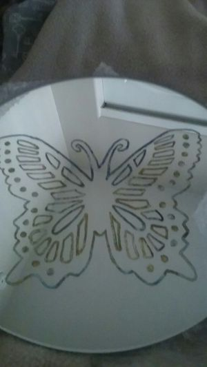 Ten Inch Hand Etched Mirror for Sale in Tucson, AZ