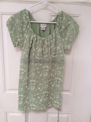 SALE! Pretty green tie back women shirt, clothing for Sale in Marshfield, MA