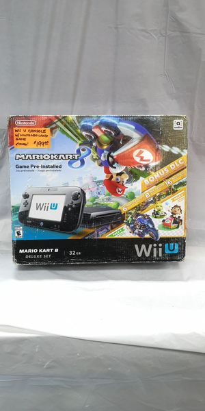 Nintendo Wii U 32GB Black Console - Mario Kart 8 Deluxe Set for Sale in Largo, FL