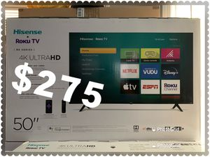 50 INCH HISENSE SMART TV ROKU 4K NEW 📺 ULTRA HD 4K for Sale in Anaheim, CA