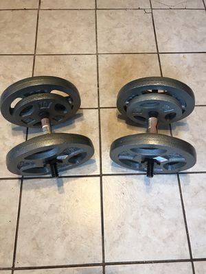 2 X 70 lb Dumbbells. for Sale in CORNWALL Borough, PA