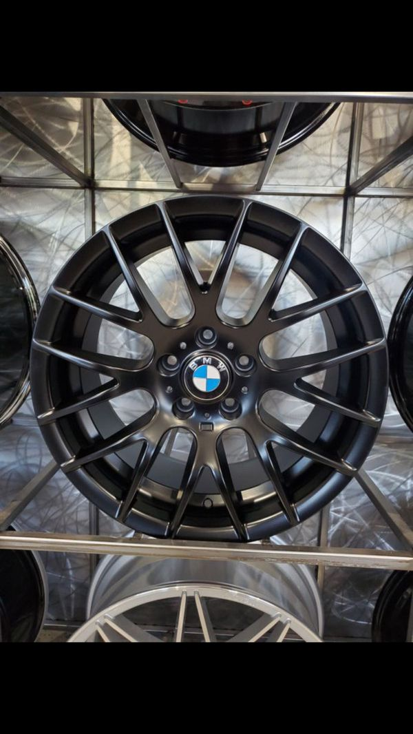 """18"""" staggered Satin black BMW 359 style wheels fits BMW 3 series 325 330 328 335 wheels rims tires shop"""