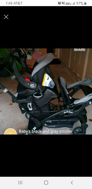 Double stroller and carseat for Sale in Pontiac, MI