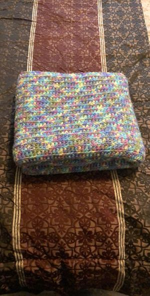 Crocheted baby blanket. baby shower gift, baby gift, baby blanket, carriage blanket. Car seat blanket However you want to use it. for Sale in Fort Campbell, KY