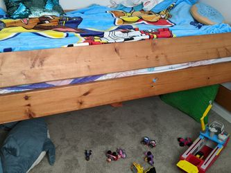 Wooden Bed Frame for Sale in Renton,  WA